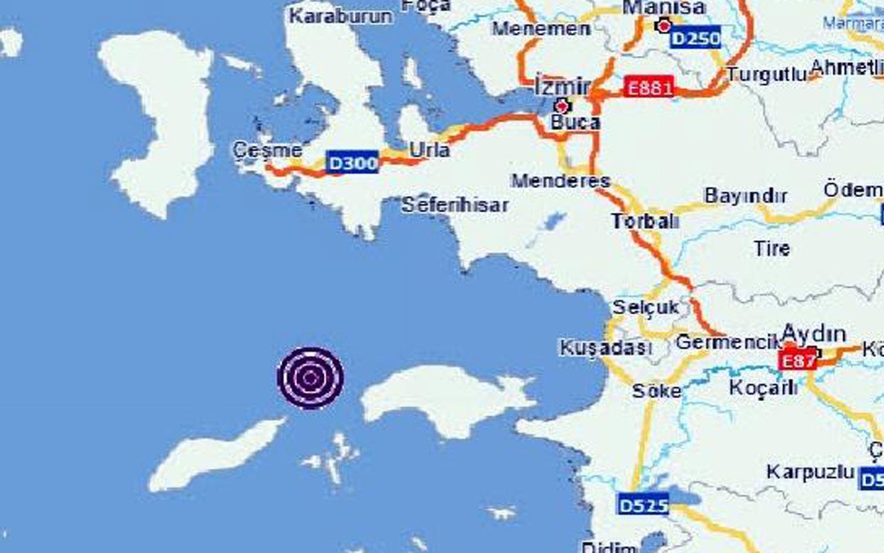 İzmir'in Urla ilçesinde 4.3 şiddetinde deprem oldu! AFAD duyurdu