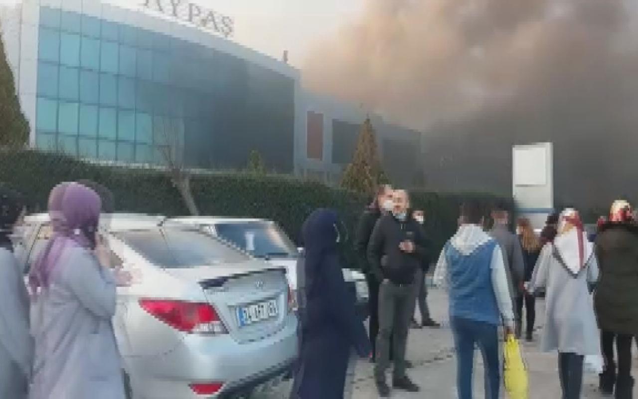 İstanbul Çatalca'da saat fabrikasında yangın çıktı