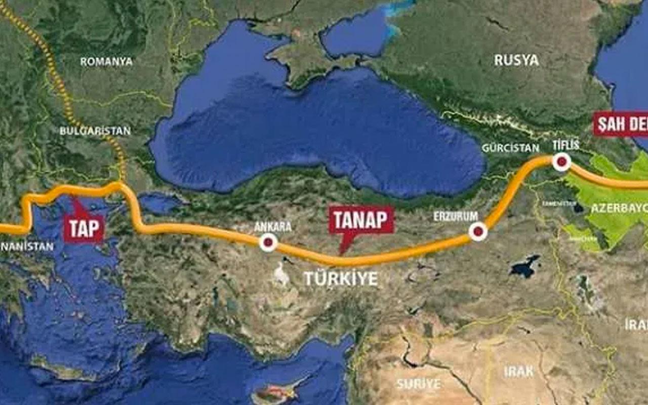 Türkiye üzerinden Avrupa'ya giden Trans Adriyatik Boru Hattı'ndan ilk gaz akışı