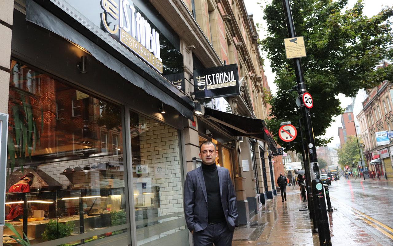 Mehmet Nezir Korkut Manchester'a 'Türk döneri' satarak pandemiyi fırsata çevirdi