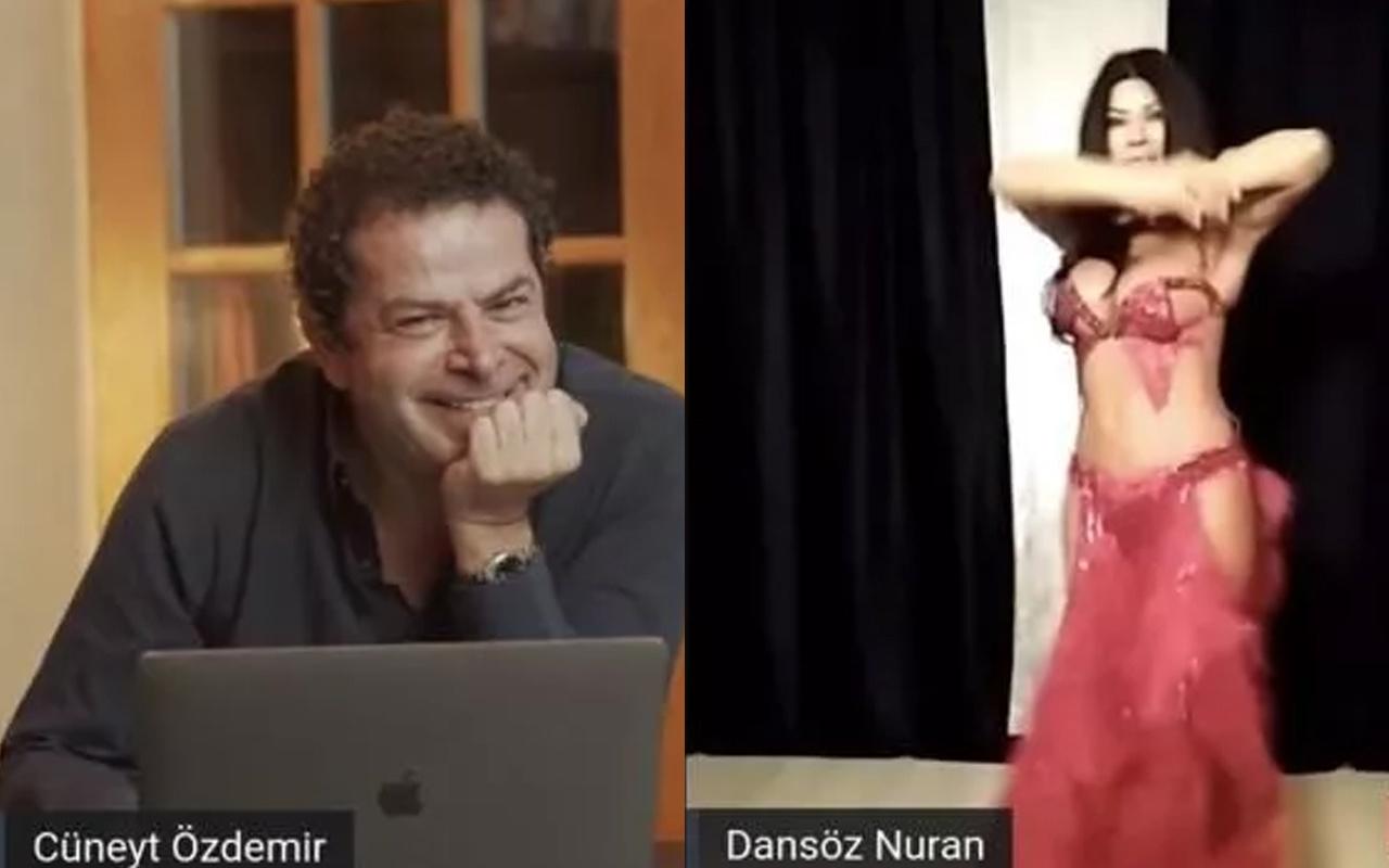 Cüneyt Özdemir izleyenlerin isteğini kırmadı! Yayına dansöz çıkardı