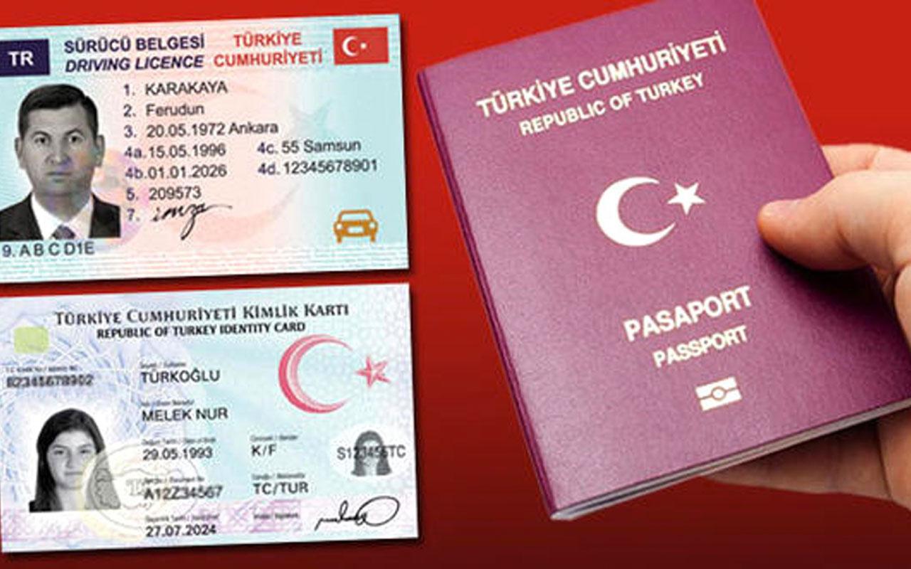 2021'de pasaport, kimlik kartı ve sürücü belgesi ne kadar olacak? Değerli kâğıt bedelleri açıklandı