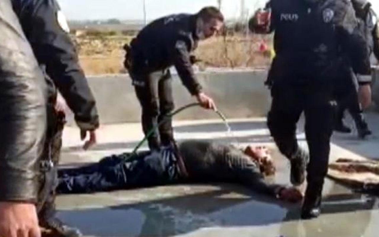 Tarsus'ta dehşet! Önce çocuklarının evini, ardından kendisini yaktı