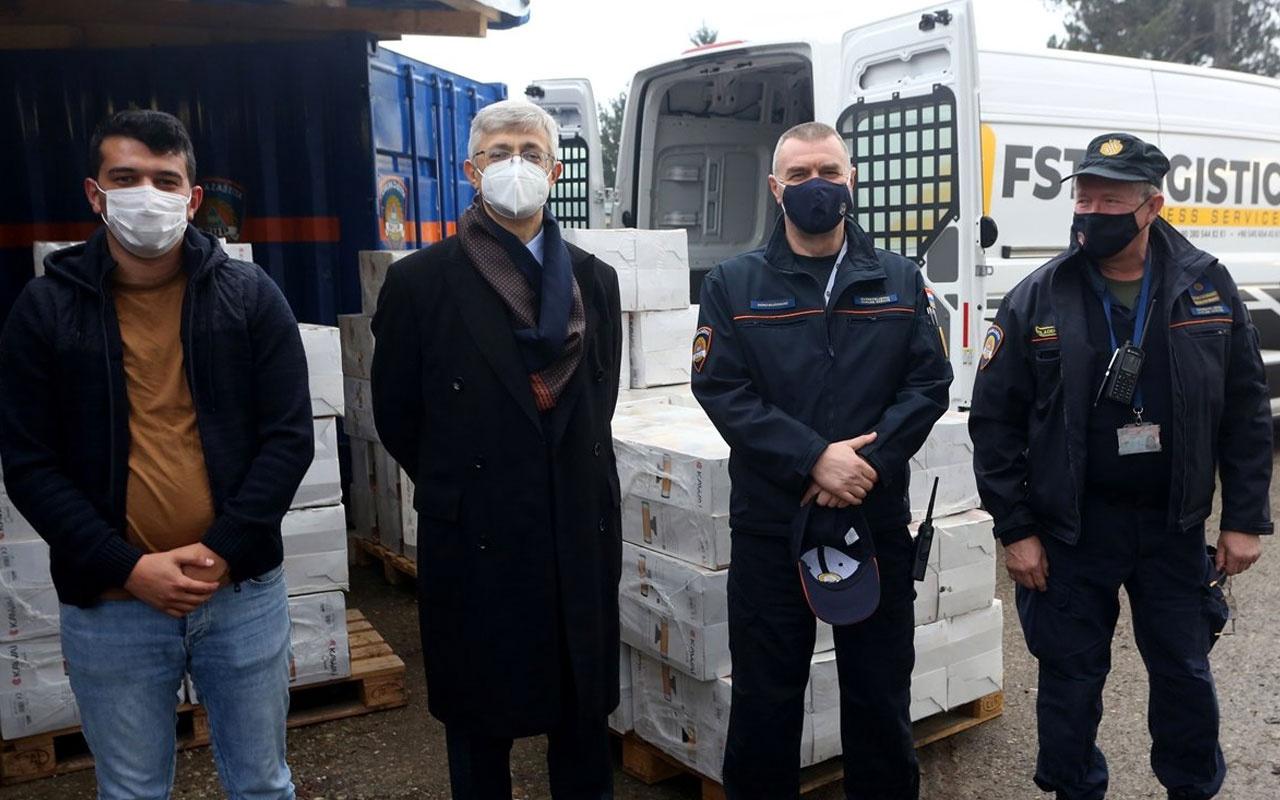 Türkiye'nin yardım malzemeleri, depremin vurduğu Hırvatistan'a ulaştı