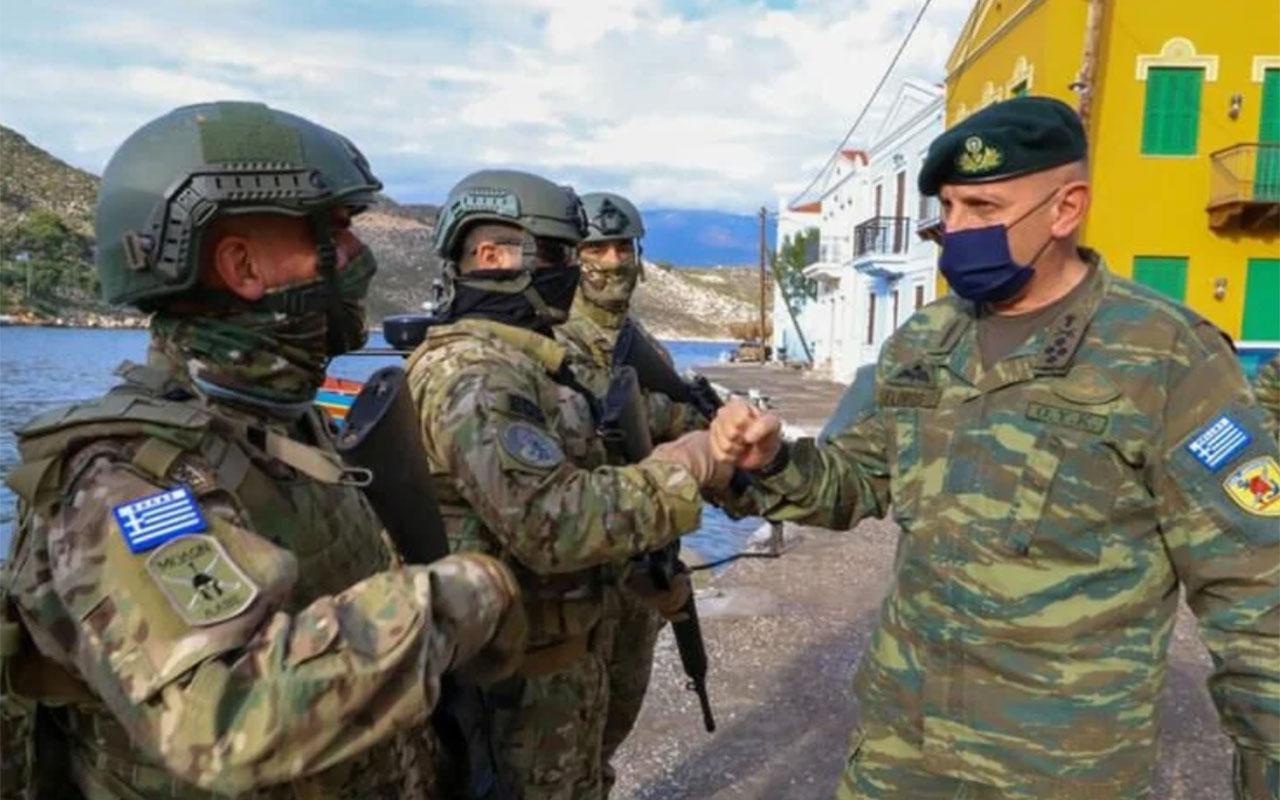 Yunanistan'ın Ege'de ağır tahriki yılbaşında da sürdü! Üniformalı ve silahlı şov