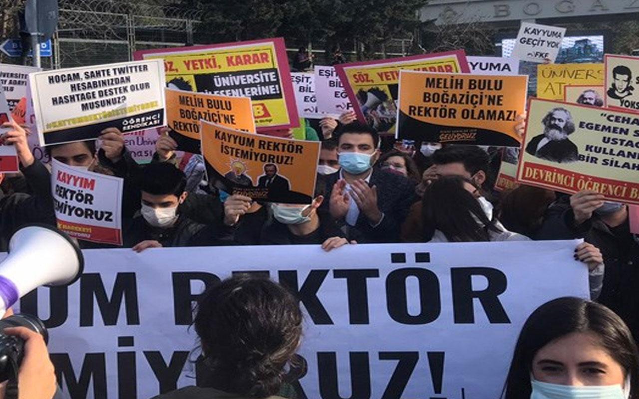 Boğaziçi Üniversitesi'nde Melih Bulu protestosu: Kayyum istemiyoruz