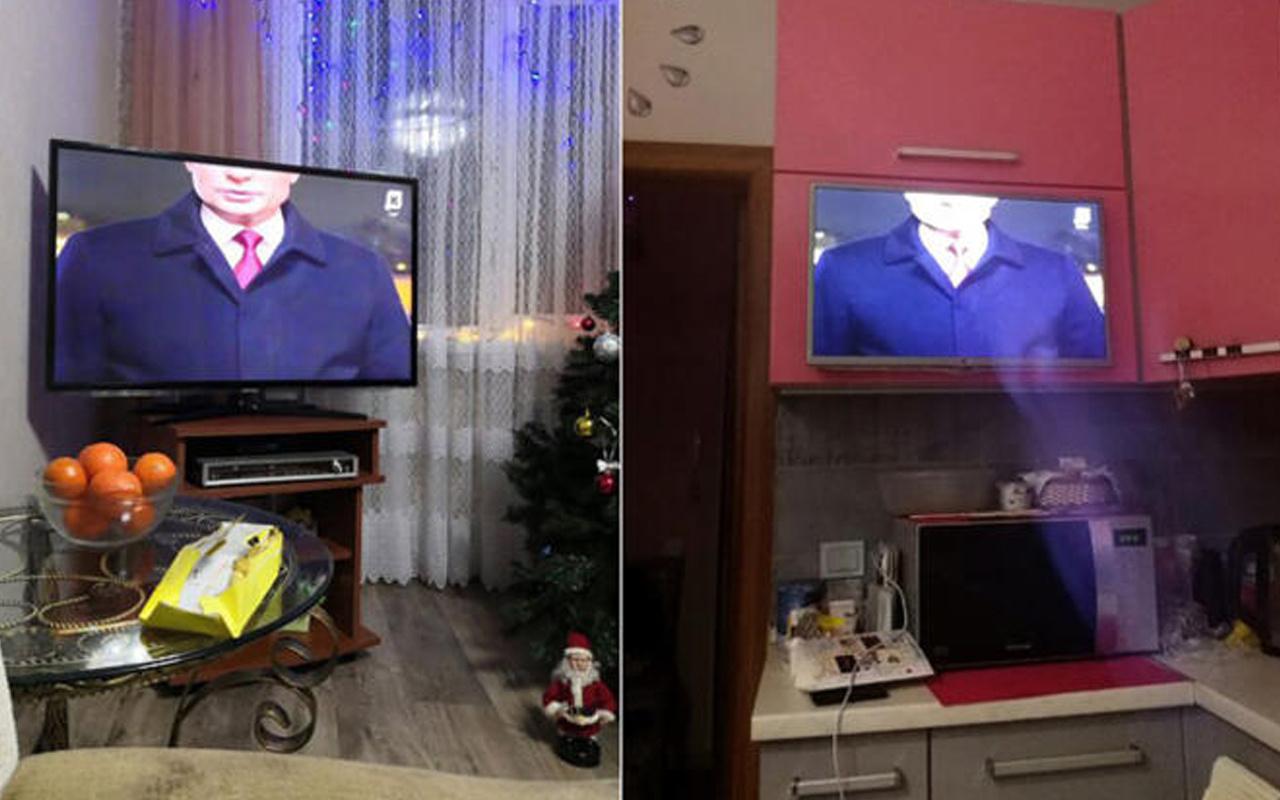 Televizyonu açan şaşkına döndü! Başı olmayan Putin Rusya'yı karıştırdı