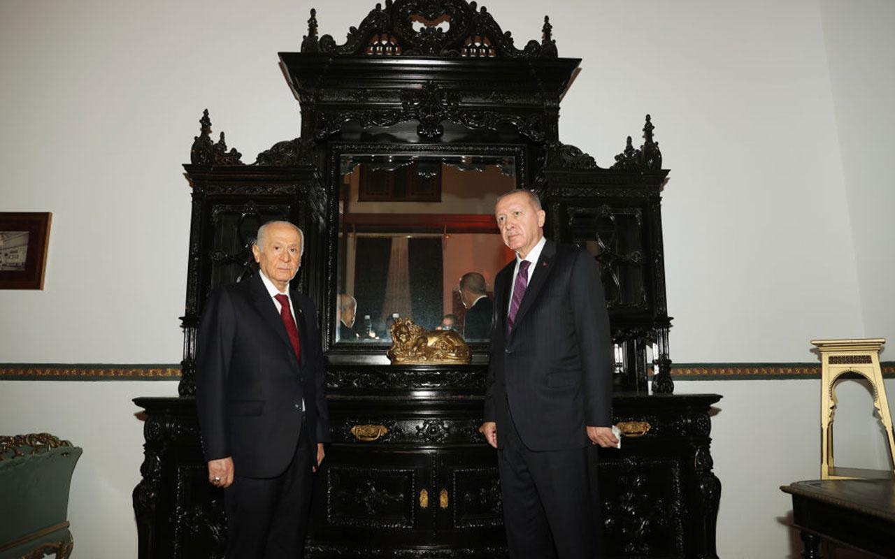 Cumhurbaşkanı Erdoğan, MHP lideri Devlet Bahçeli'yi evinde ziyaret etti