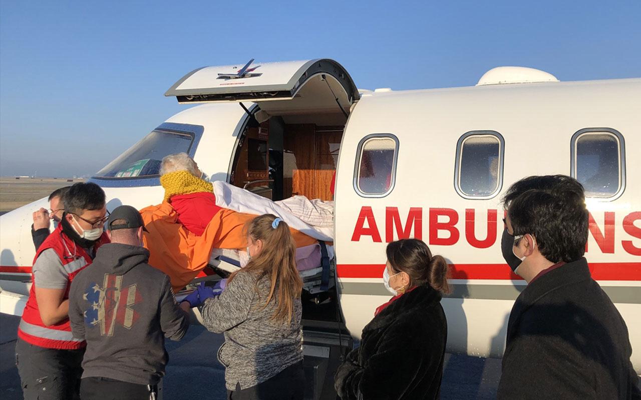 ABD'de yaşayan Türk halk bilimci İlhan Başgöz ambulans uçakla Türkiye'ye gönderildi