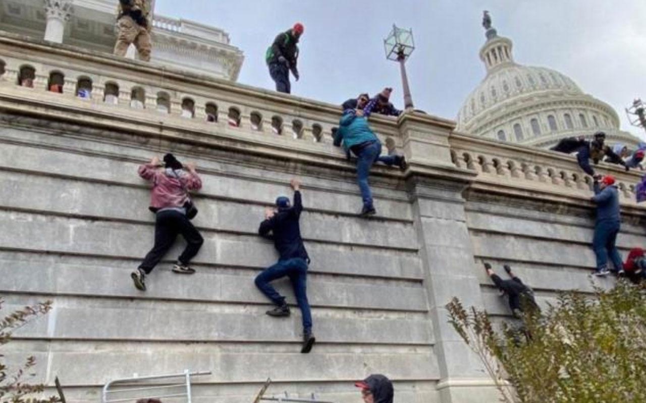 ABD'de işler iyice karıştı! Kongre binasında silahlar çekildi