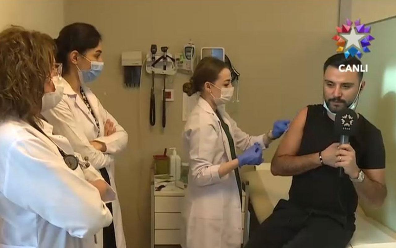 Alişan canlı yayında koronavirüse karşı aşı oldu