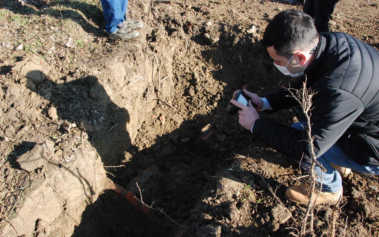 Bartın'da evin bahçesini kazarken buldu yetkililer apar topar etrafı çevirdi