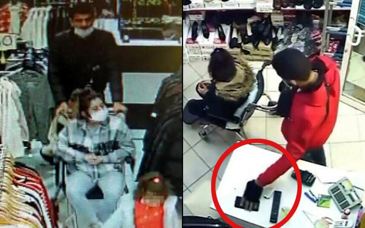 İzmir'de tekerlekli sandalyeli cep telefonu hırsızlıkları kameralara yansıdı