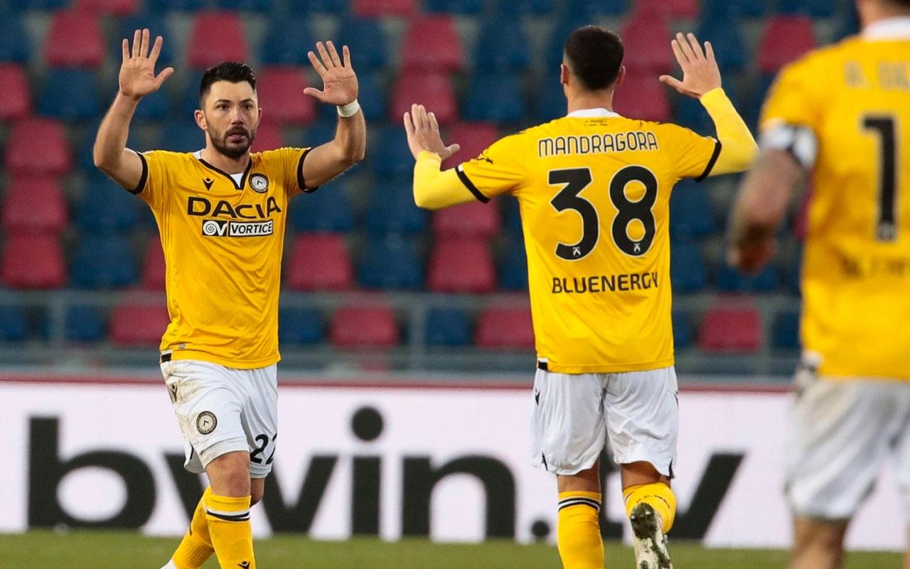Tolgay Arslan gol attı Udinese beraberliği kurtardı