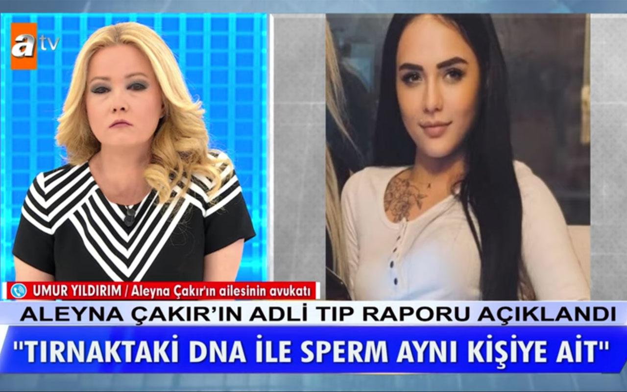 Aleyna Çakır'da bulunan DNA ve sperm Ümitcan'a mı ait? Müge Anlı'da avukat konuştu