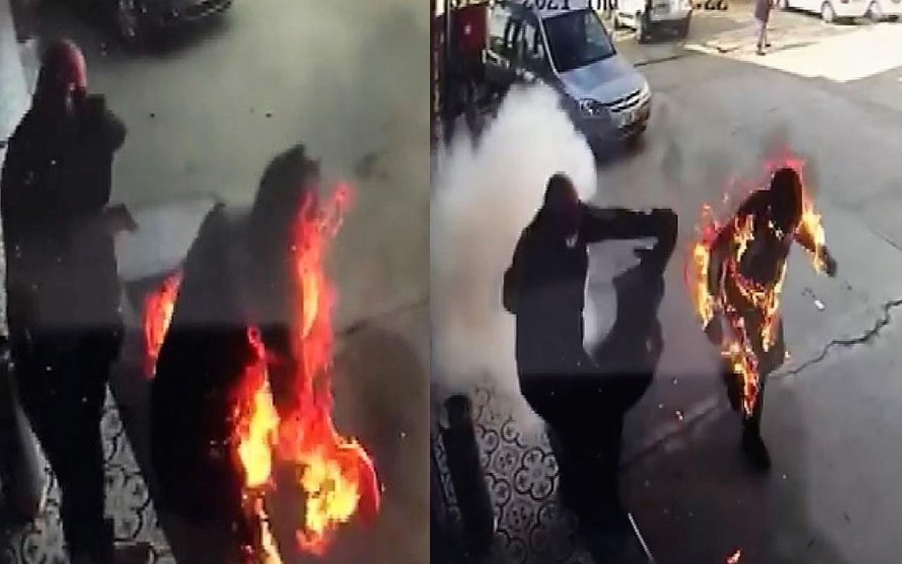 Kahramanmaraş'ta korkunç olay! Alevler içinde kalan pompacı son anda kurtarıldı
