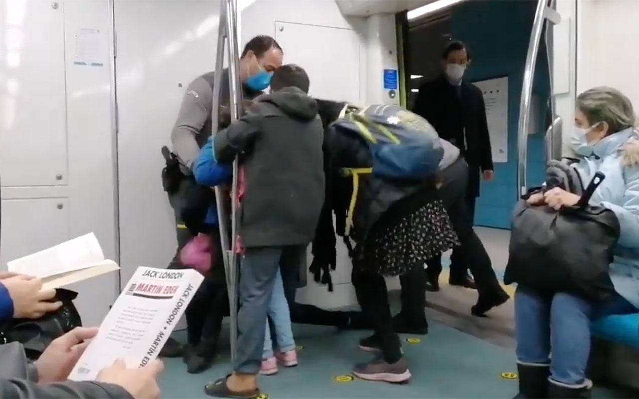 Marmaray'da inanılmaz olay! Güvenlik görevlileri biletsiz binen çocuklar saçından sürükledi