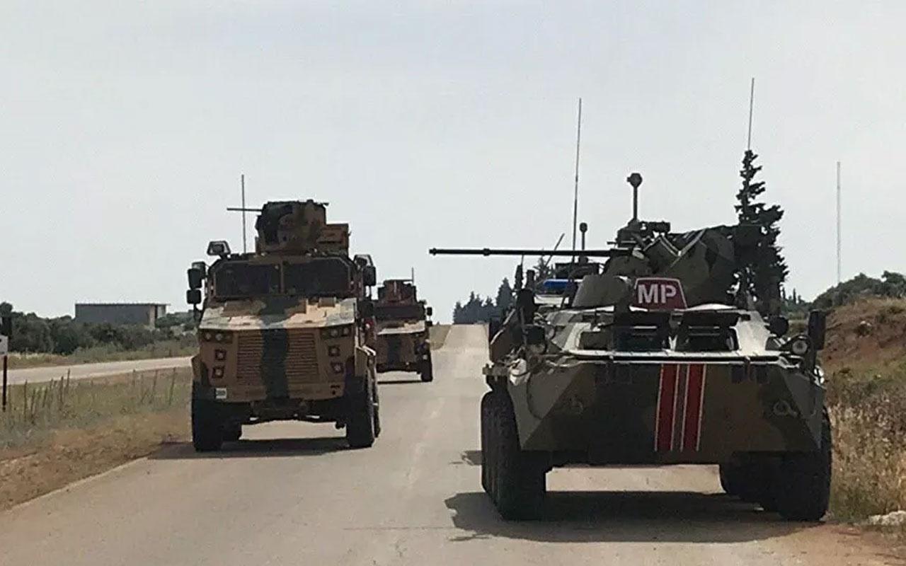 Türk ve Rus askerlerinden Suriye'de 2021'in ilk ortak devriyesi