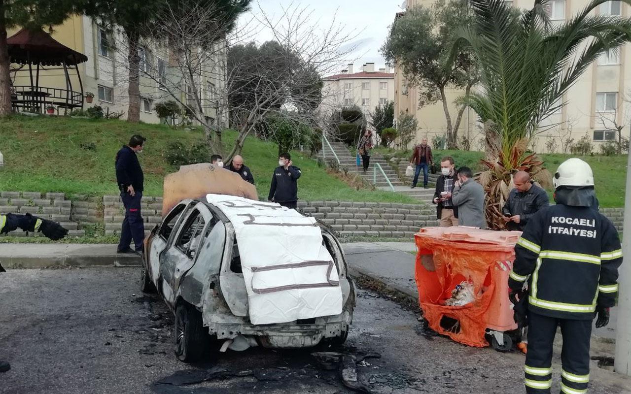 Kocaeli'de yanan otomobilde erkek cesedi bulundu!