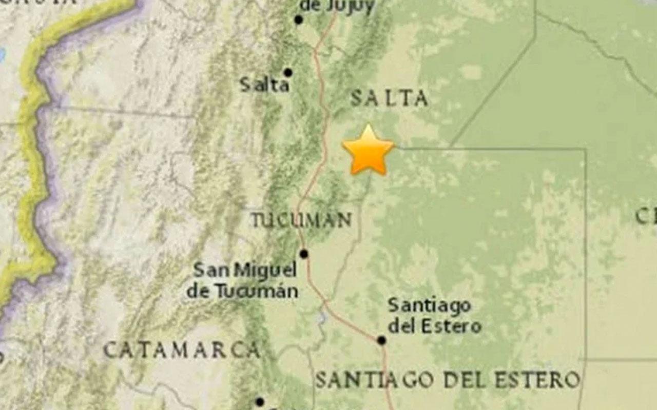 Arjantin 6.1 şiddetinde depremle sarsıldı