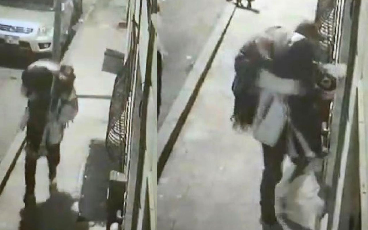 Şişli'de kız arkadaşını sokak ortasında iki kez darp etti! Çuval taşır gibi taşıdı