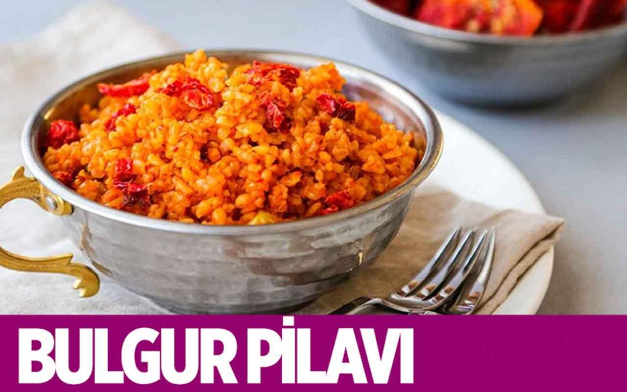Kuru domatesli bulgur pilavı nasıl yapılır?