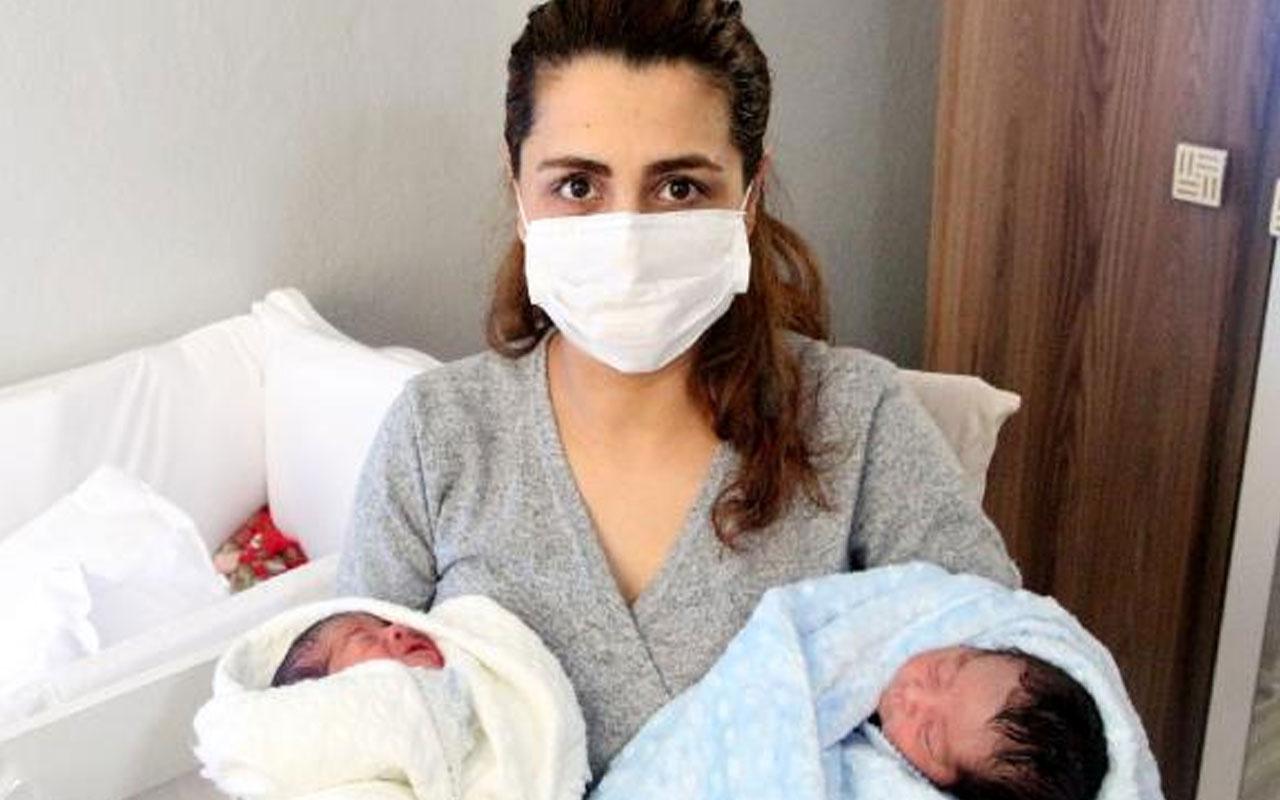 Adana'da sağlık çalışanı koronavirüsü yendikten 3 gün sonra ikiz bebek dünyaya getirdi