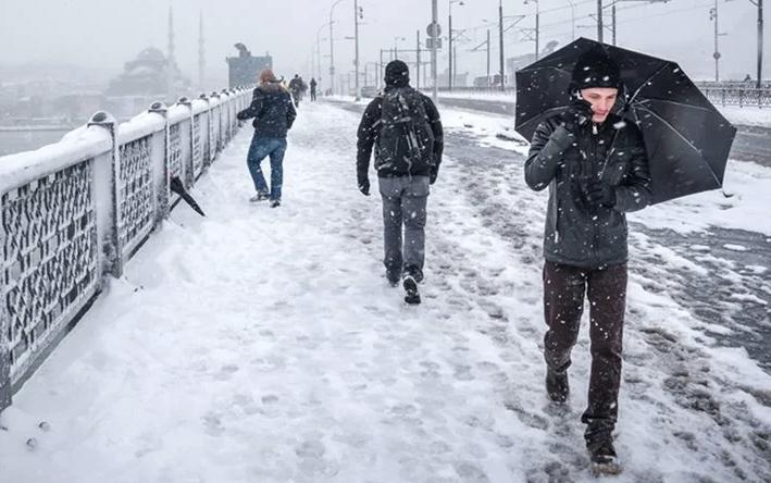 Harita beyaza büründü! İstanbul'a Cuma ve Cumartesi kar geliyor