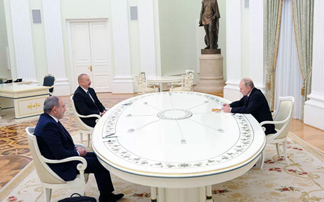 Moskova'da Dağlık Karabağ zirvesi! Putin, Aliyev ve Paşinyan toplandı