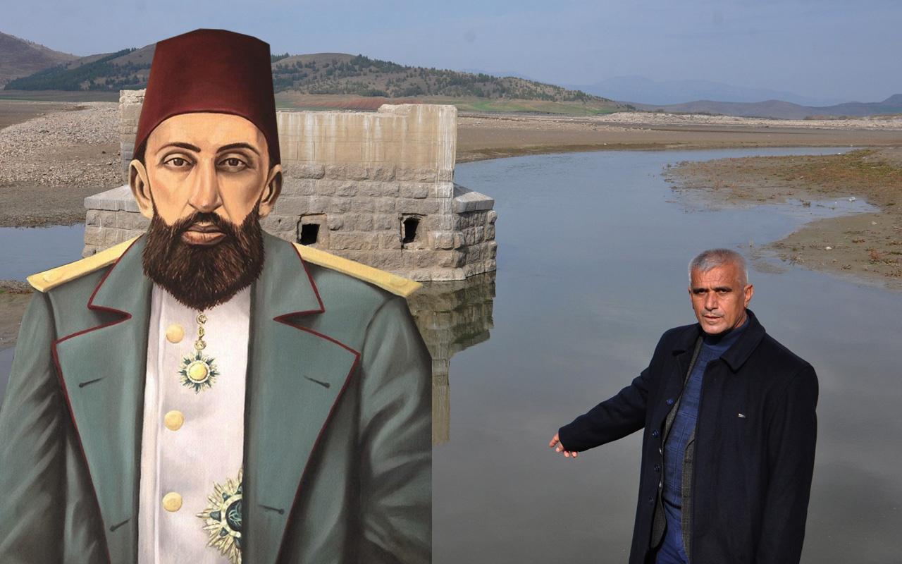 Gaziantep'e Abdülhamit yaptırmıştı! Sular çekilince 27 yıl sonra ilk kez kendini gösterdi