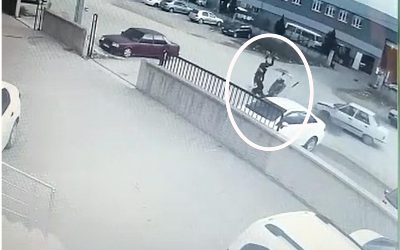Bursa'da korkunç kaza! Sürücü metrelerce havalandı yere çakıldı