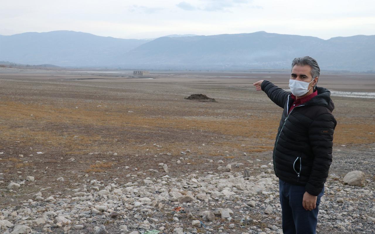 Sivas'ta sular çekildi ürküten görüntü ortaya çıktı: Çürüme durumunda olabilir