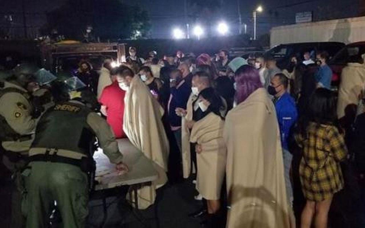 ABD bu olayı konuşuyor! 200 kişinin katıldığı swinger partisini polis bastı