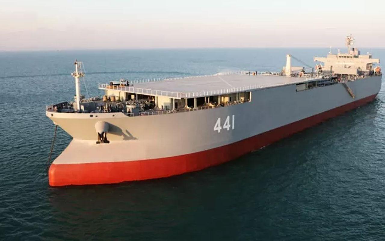 İran, tarihinin en büyük savaş gemisi Makran'ı tanıttı