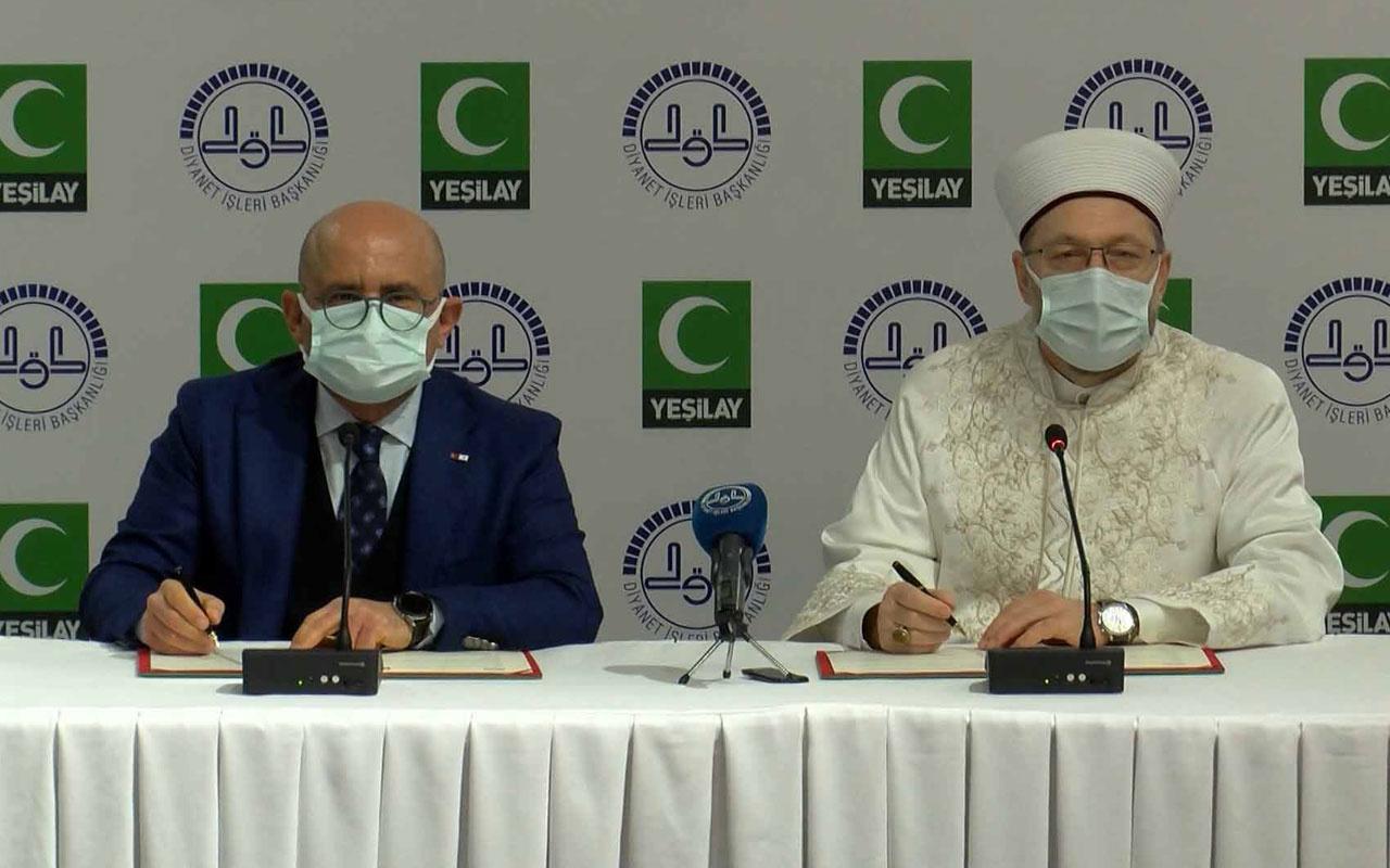 Diyanet İşleri Başkanlığı ile Yeşilay arasında iş birliği protokolü imzalandı