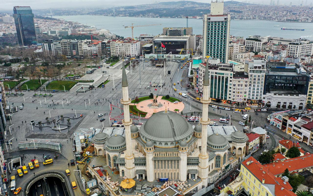 Taksim'de yapılan cami ibadete ne zaman açılacak?