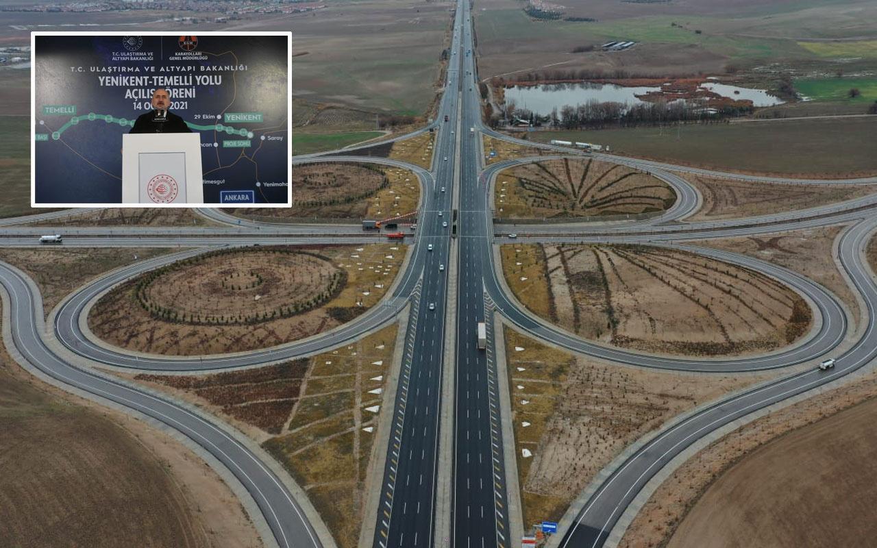 Bakan Adil Karaismailoğlu Yenikent-Temelli Yolu'nun açılışını yaptı