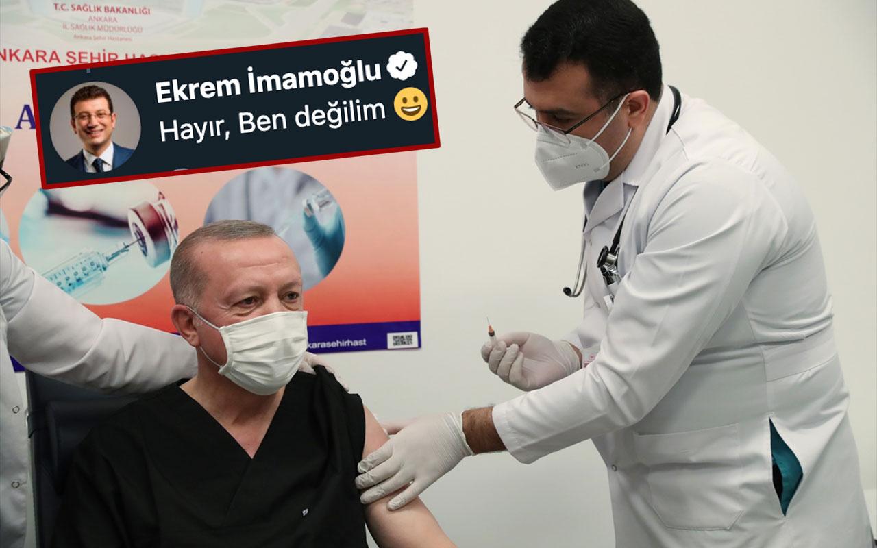 Cumhurbaşkanı Erdoğan'a aşıyı yapan doktorun kim olduğu ortaya çıktı! Ekrem İmamoğlu mu?