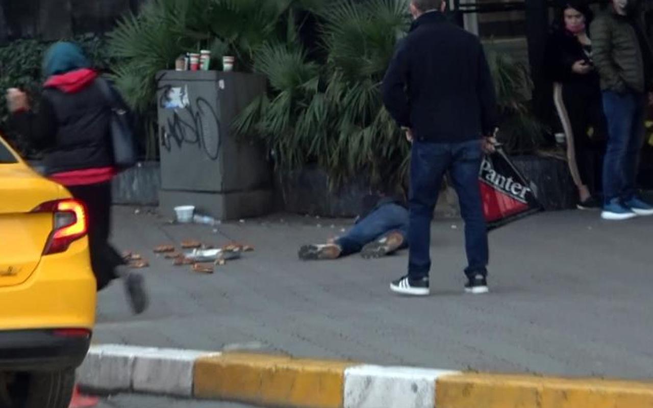 Taksim Meydanı'nda duygu sömürüsü! Bayılıyormuş gibi yaptı ağzından çıkan şoke etti