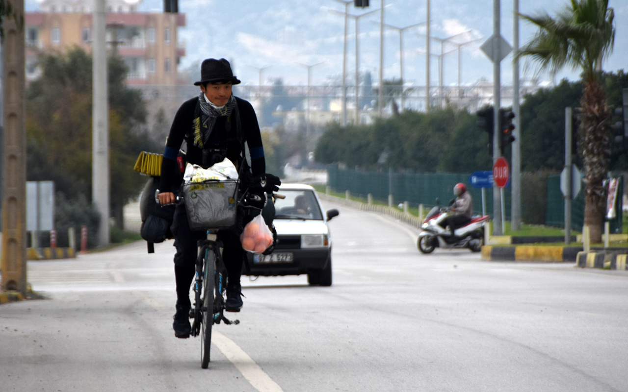 Bisikletiyle dünyayı gezdi! Japon fotoğrafçı Türkiye'ye hayran kaldı