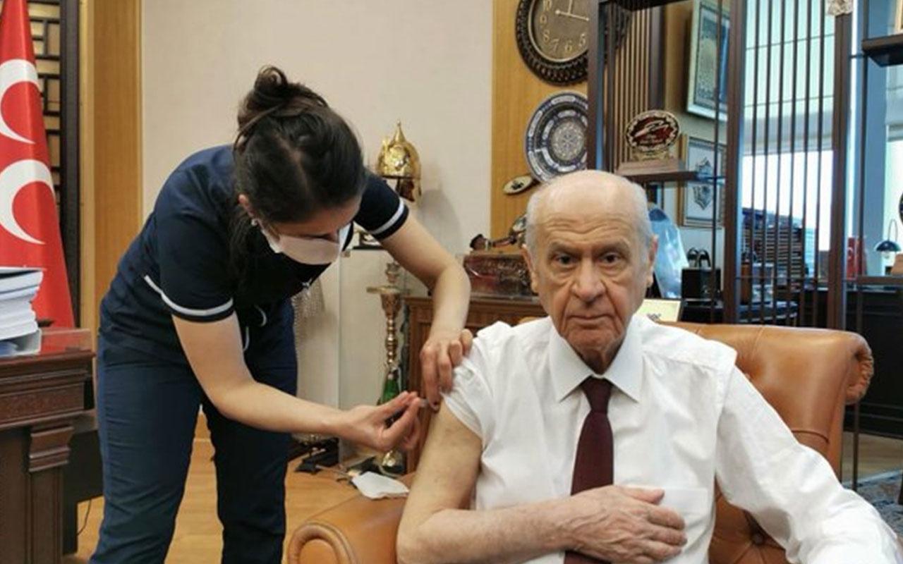 MHP Genel Başkanı Devlet Bahçeli koronavirüs aşısı yaptırdı