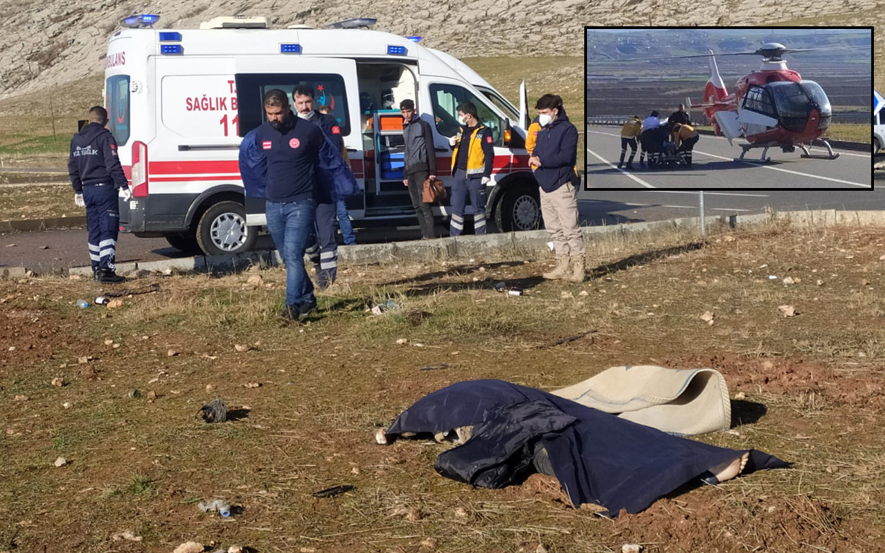 Diyarbakır'da feci kazada ölü ve yaralılar var! Hava ambulansı sevk edildi