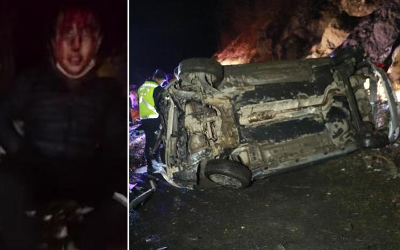 Samsun'da otomobil 70 metrelik uçuruma yuvarlandı 4 kişiyi kuryeler kurtardı