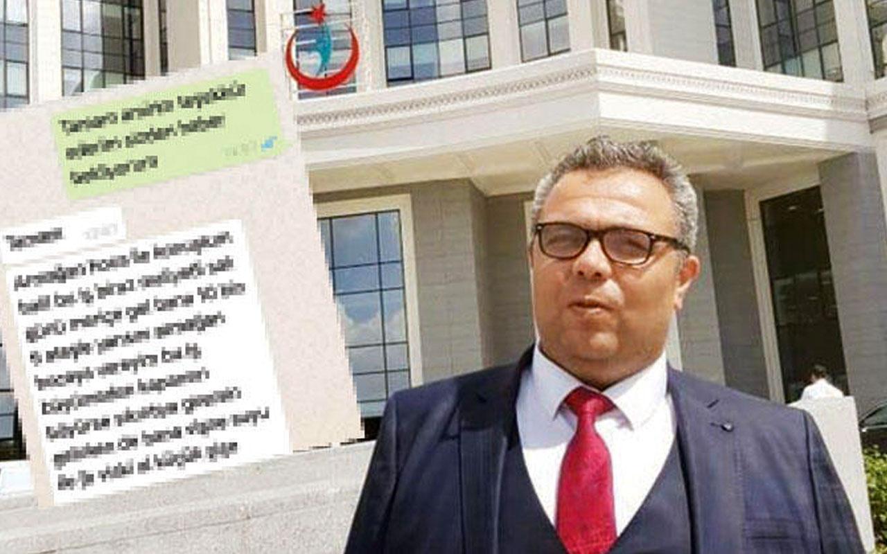 Hastane müdüründen rüşvet mesajı: Viski vişne 10 bin TL istedi