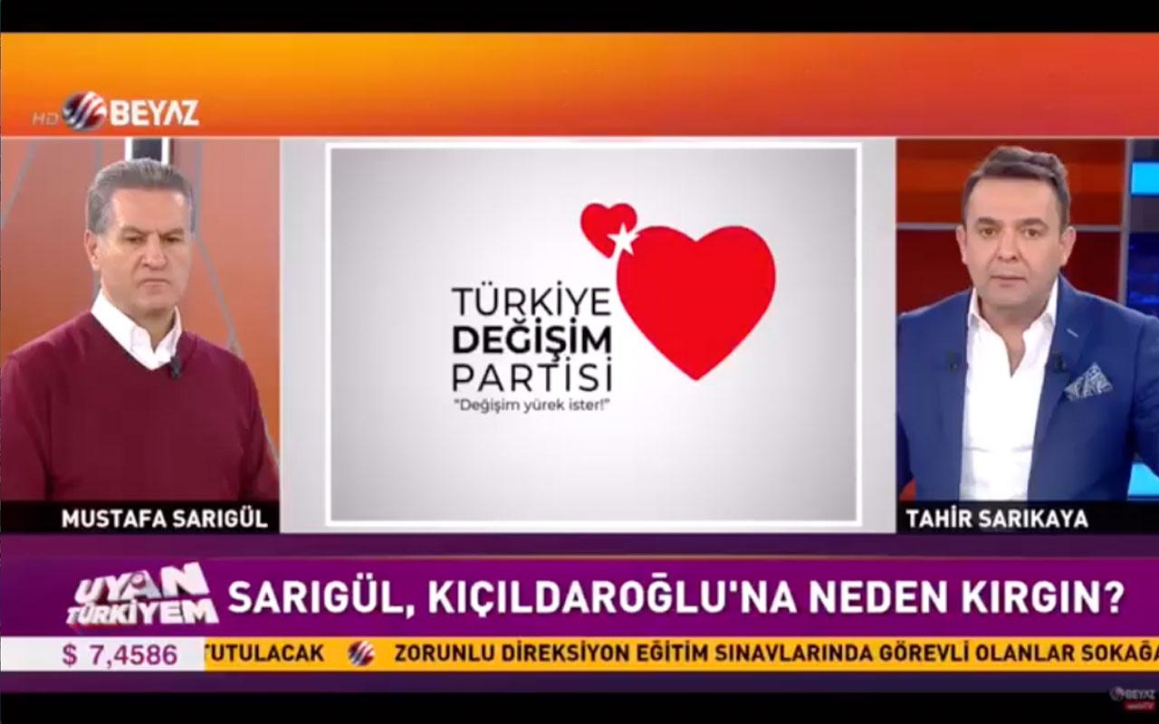 Türkiye Değişim Partisi Lideri Mustafa Sarıgül, Kemal Kılıçdaroğlu'na kırgın mı?