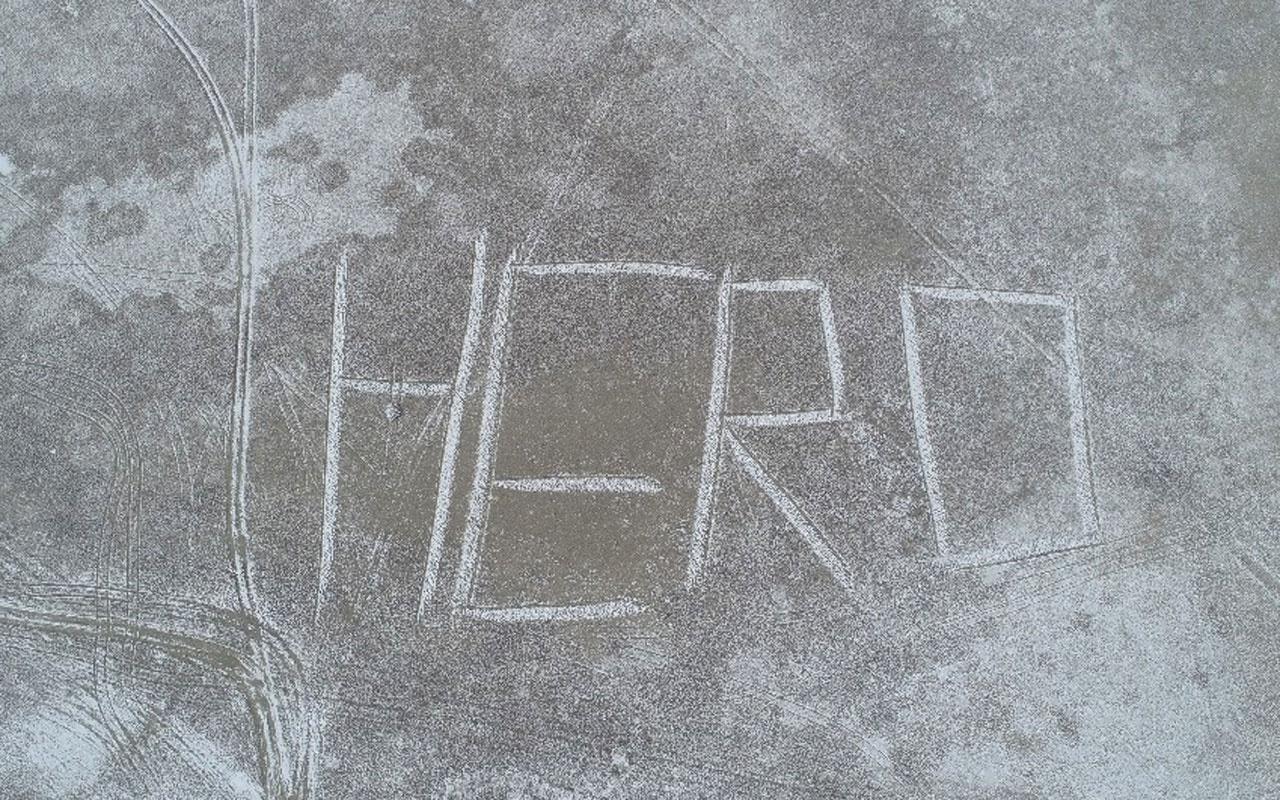 Sivas'taki dev 'HERO' yazısının sırrı çözüldü