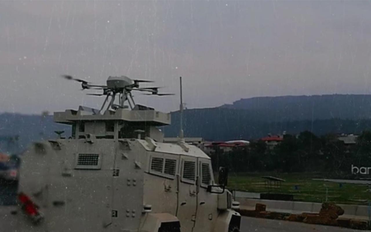 Silahlı drone Songar, ilk kez askeri kara aracına entegre edildi