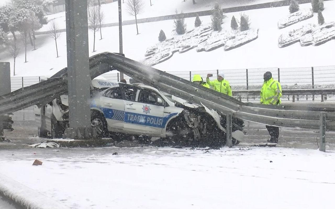 Beşiktaş'ta sivil polis aracı, trafik polisi aracına arkadan çarptı! 3 polis yaralandı