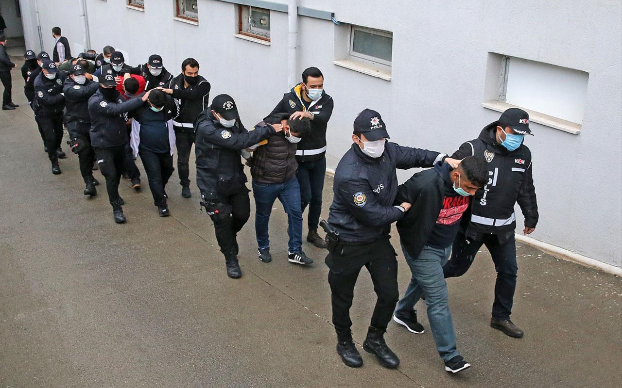 Adana'daki suç örgütü operasyonu! 9'u polis 41 zanlı tutuklandı