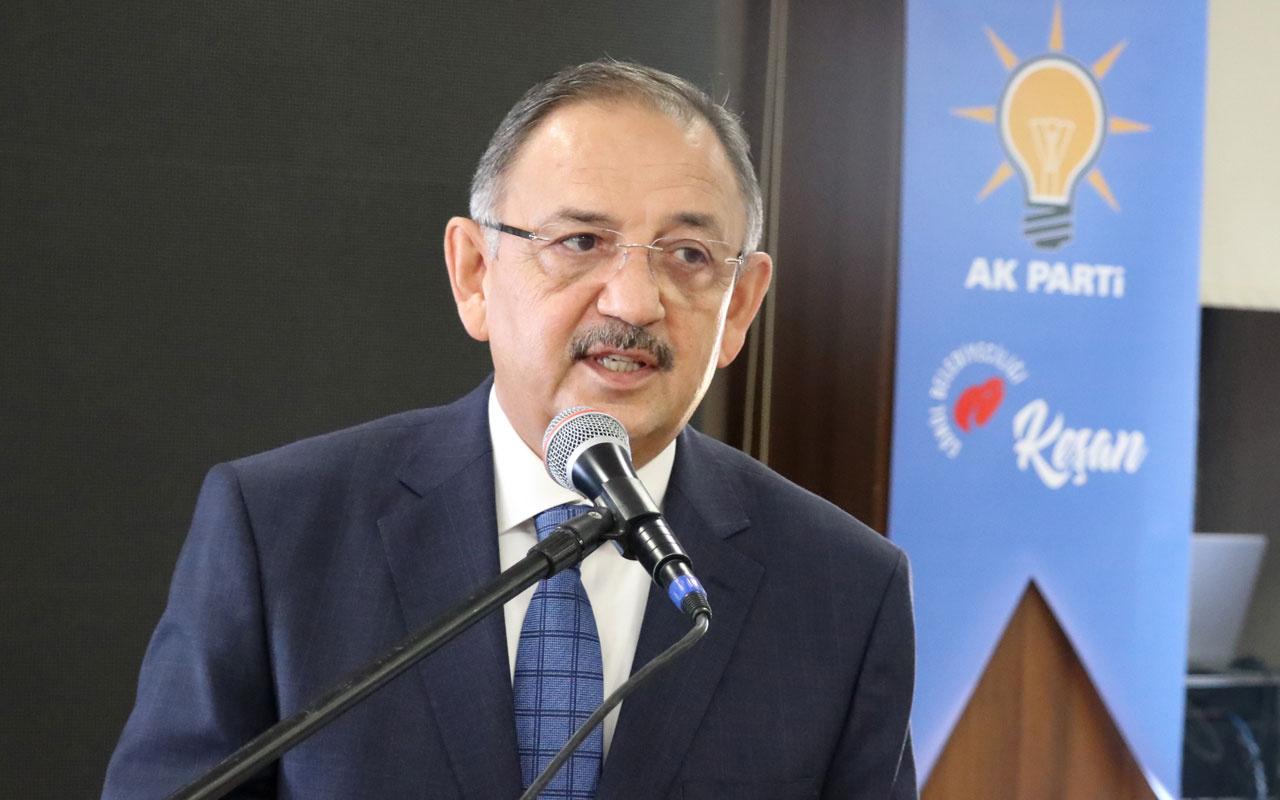 AK Parti'li Mehmet Özhaseki: CHP'li büyükşehir belediyeleri 2 yıldır taş üstüne taş koymadı